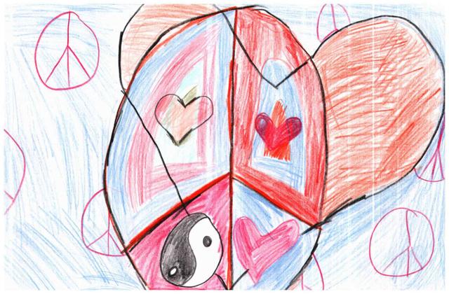 Peace Postcards - Meredith Dunn School