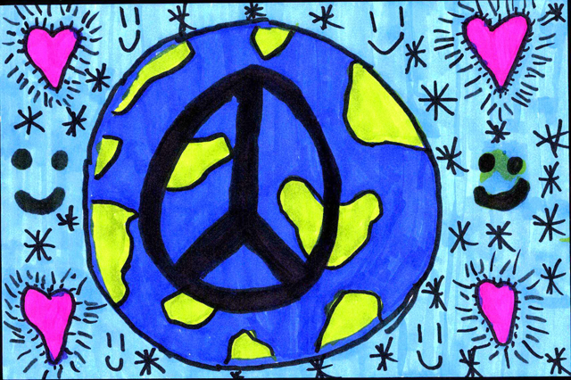 Peace Postcards - Sayre School
