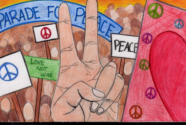 Peace Postcards - Butler Traditional High School