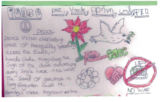 Peace Postcards - North Leigh Primary School