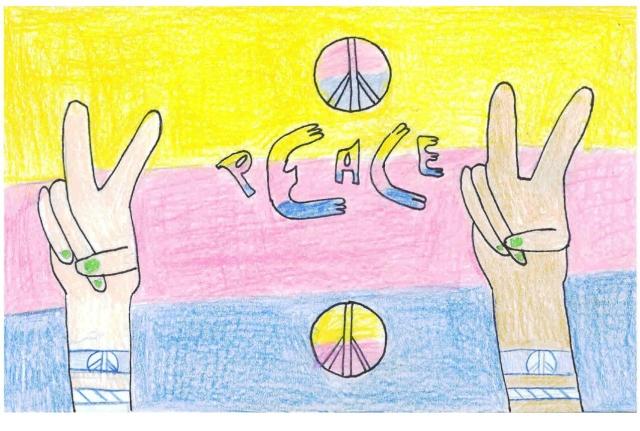 Peace Postcards - Morton Middle