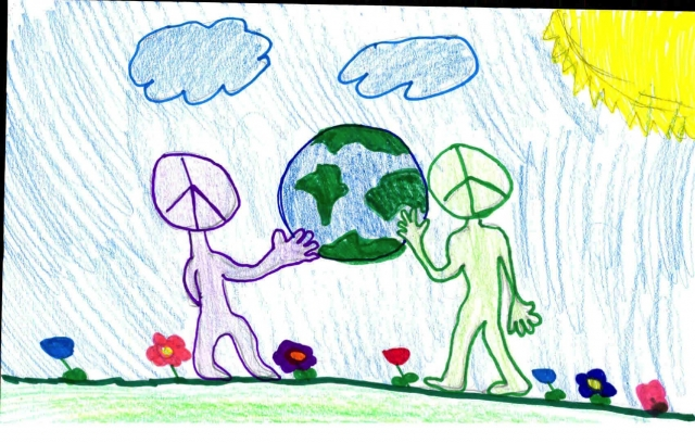 Rutherford Elementary School - Peace Postcards