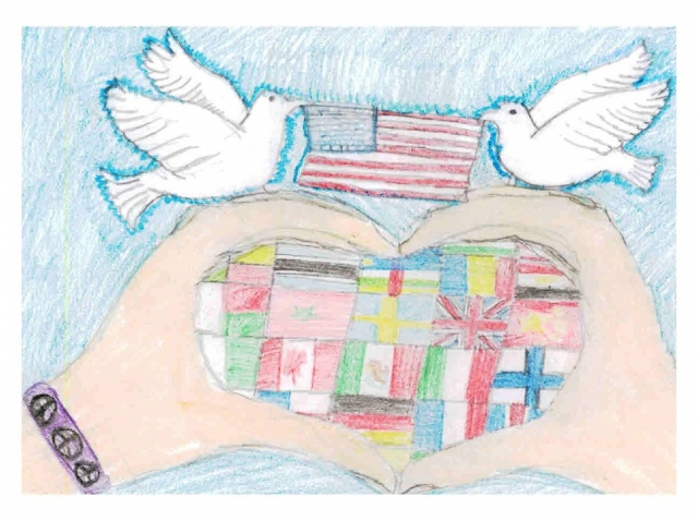 Tully Elementary School - Peace Postcards